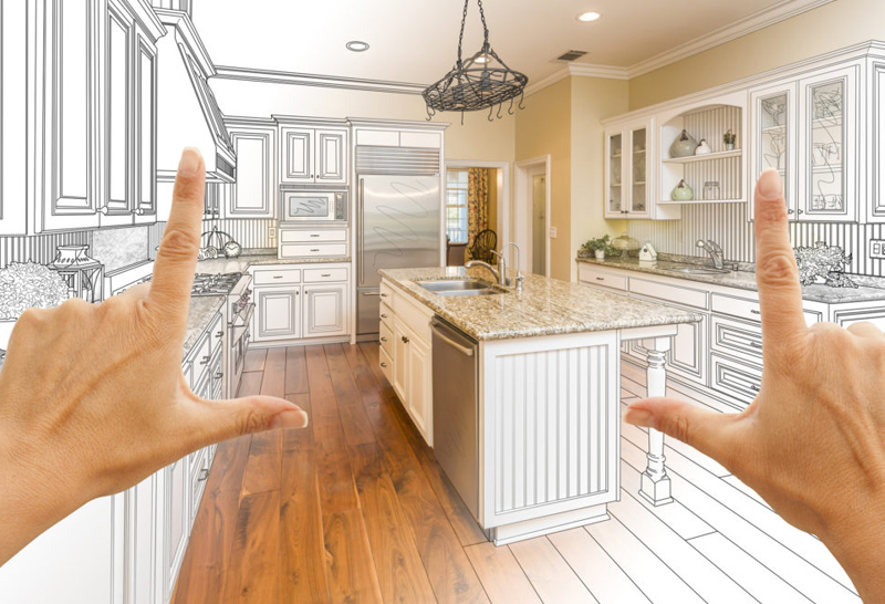 The artistic and aesthetic sense play a vital role in kitchen remodeling